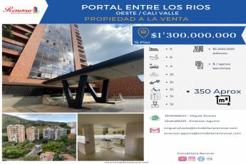 Cali, 5 Habitaciones Habitaciones, ,6 BathroomsBathrooms,Apartamento,En Venta,PORTAL ENTRE LOS RIOS,15,1009